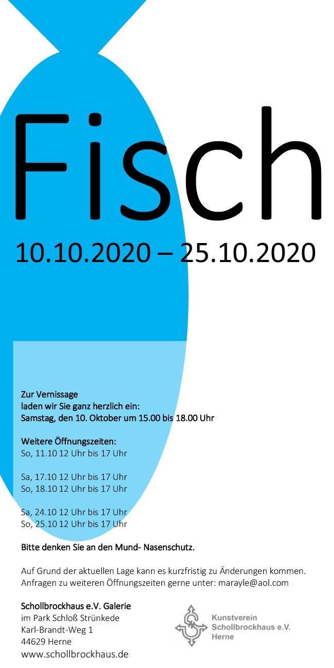 """Gastausstellung """"Fisch"""" 10.10.2020 bis 25.10.20"""