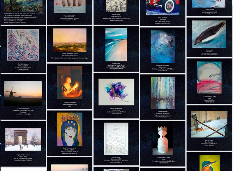 Online-Ausstellung – Kunstkalender 2020