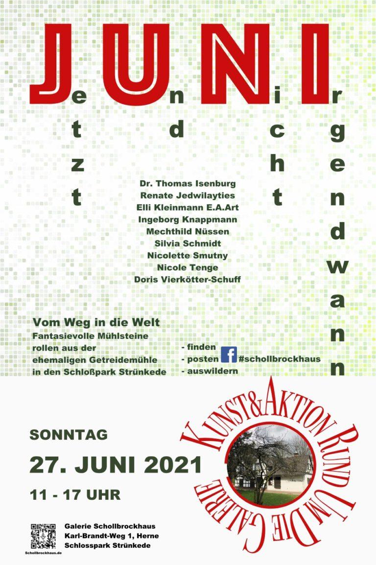 Read more about the article Jetzt und nicht irgendwann – Ausstellung 27. Juni 2021