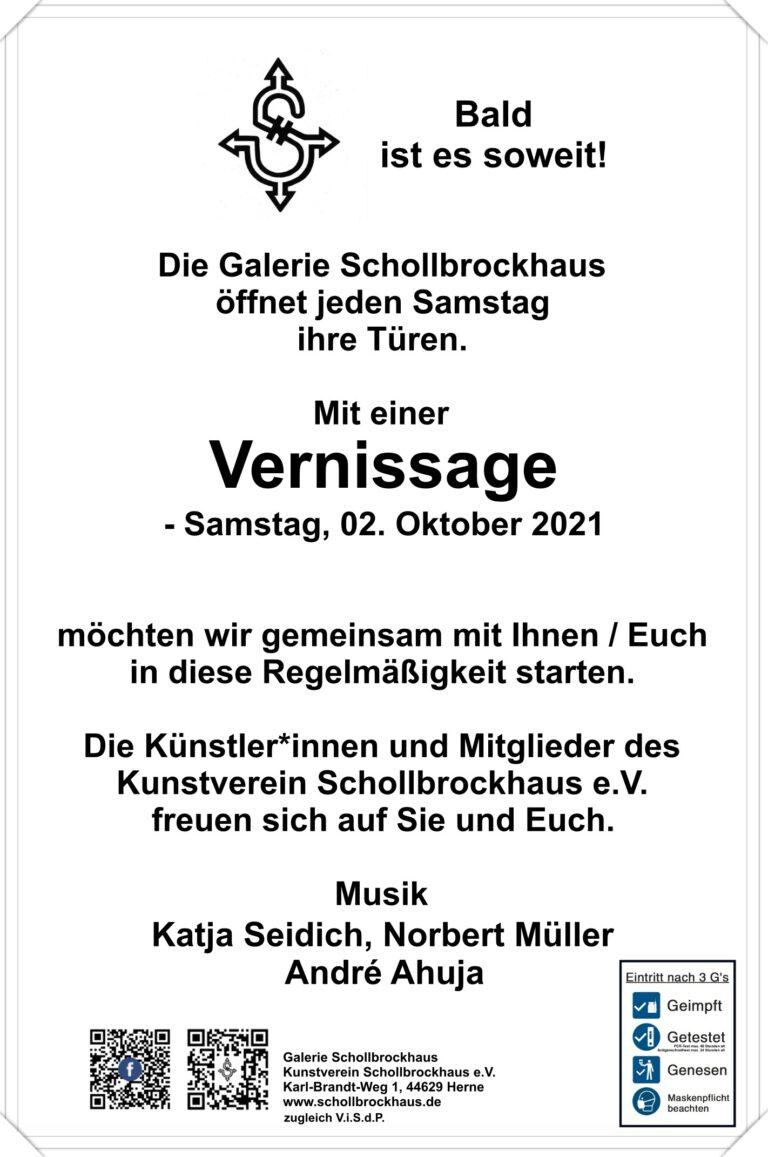 Read more about the article Vernissage – Kunstverein Schollbrockhaus öffnet die Türen